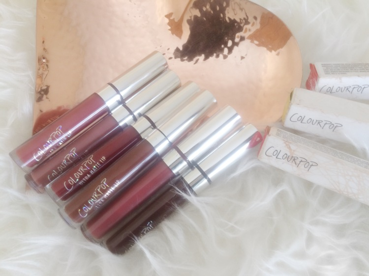 COLOURPOP ULTRA MATTE LIQUID LIPSTICK IN TULLE, LAX, LIMBO, STINGRAYE, AVENUE AND FRICK N FRACK