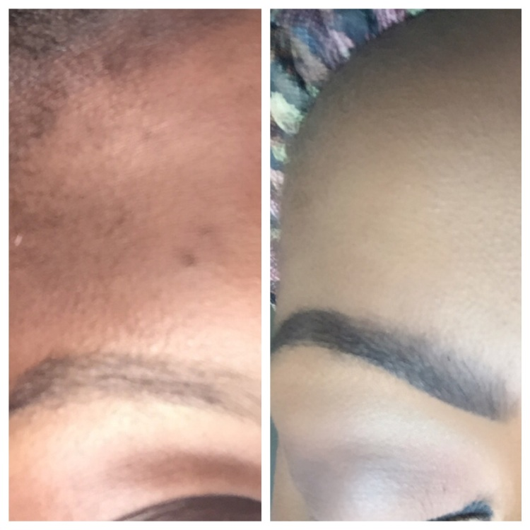 Before and After of using Ka Brow Gel