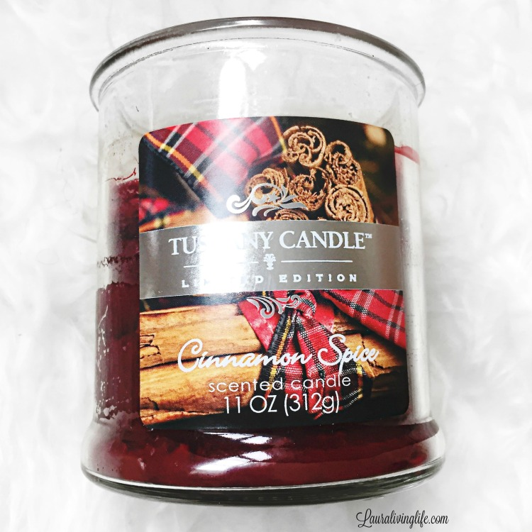 tuscany candle cinnamon spice-lauralivinglife