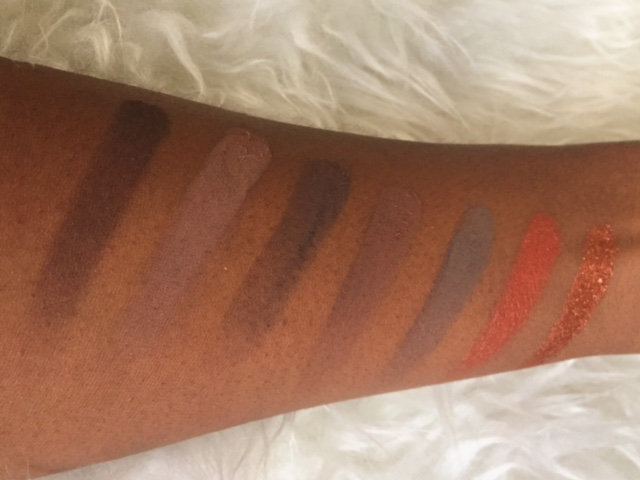 MORPHE 350 PALETTE SWATCHES ROW 4