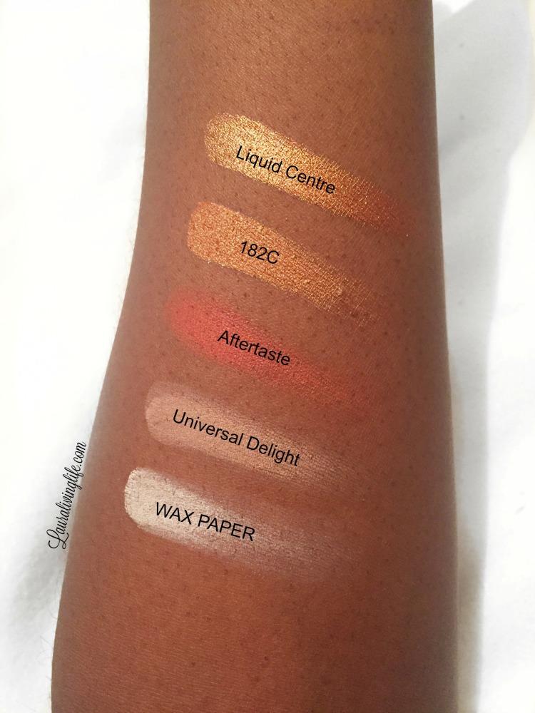 Zoeva caramel melange eyeshadow palette hand swatch-lauralivinglife.com