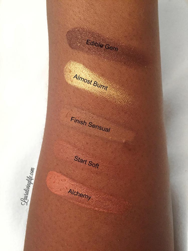 Zoeva caramel melange eyeshadow palette handswatch-lauralivinglife.com