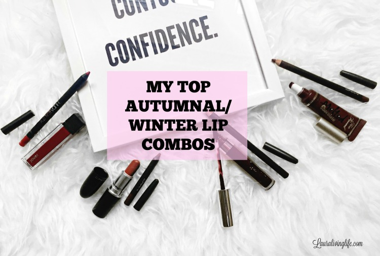 Top Autumnal/ winter lip combos- lauralivinglife.com