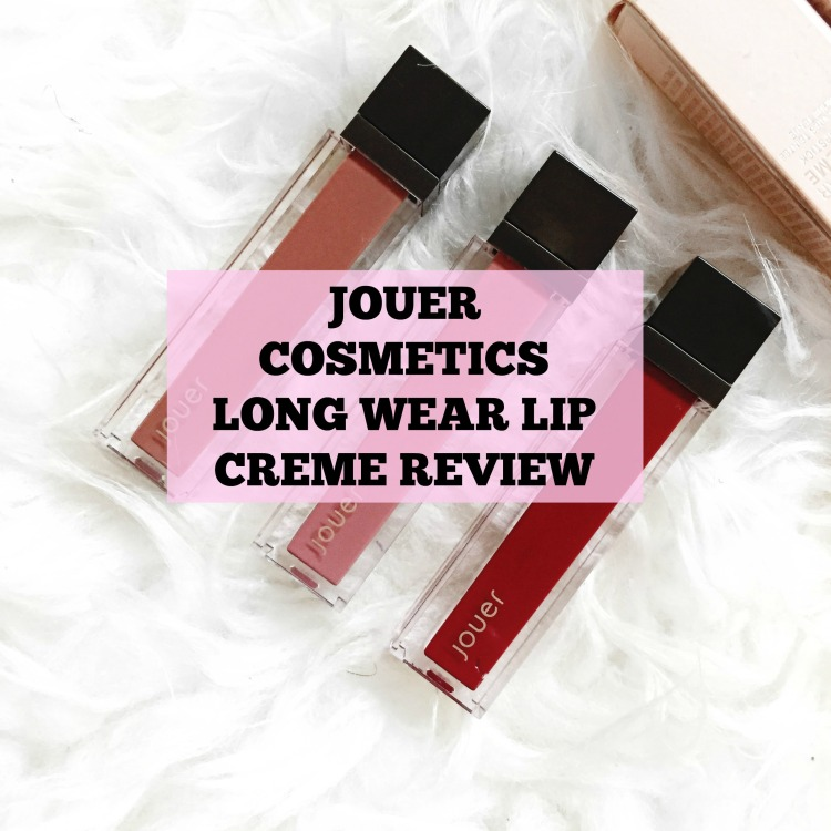 Jouer cosmetics long wear lip cream liquid lipstick review- lauralivinglife.com