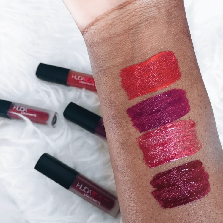 huda beauty liquid lipsticks review and swatches