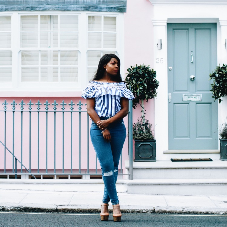 stripe tops to wear with ripped jeans