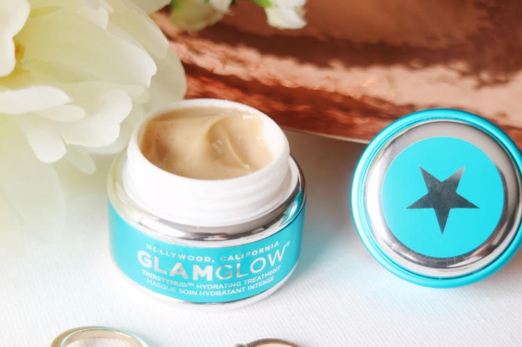 glamglow thirstymud hydrating treatment perfect for all skin types can provides youthful glowing bright skin