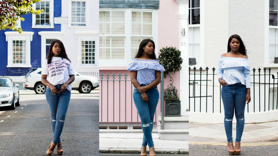 THREE TOPS TO WEAR WITH RIPPED JEANS